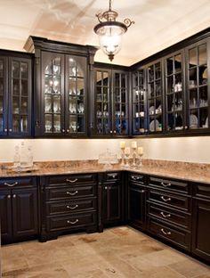 Black Butler's Pantry - Kitchen - charleston - by Hostetler Custom Cabinetry