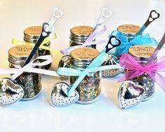 Wedding Tea Favor with Tea Infuser, Shower Favor, Edible Favor, High Tea, Mad Hatter Tea Party, 12 Loose Leaf Tea Jars