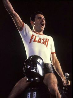 Freddie Mercury and Darth Vader! The legend that is/was and will forever be, Freddie Mercury! Queen Freddie Mercury, Rami Malek Freddie Mercury, Flash Gordon, John Deacon, Ozzy Osbourne, Stevie Nicks, Darth Vader, Music Is Life, My Music