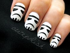 Nail art rings are the perfect complement to nail design. You can create it yourself you match them with your nail art. Use our nail art rings ideas and create the loveliest works of art. So Nails, How To Do Nails, Cute Nails, Pretty Nails, Hair And Nails, Nails Today, Star Wars Nails, Nail Design Spring, Cute Nail Designs