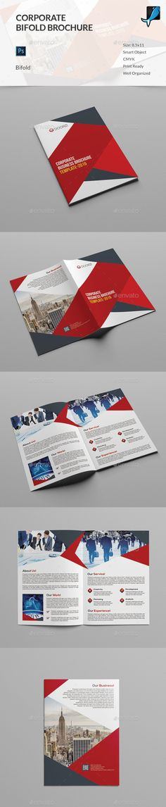 Corporate Bifold Brochure Template PSD #design Download: http://graphicriver.net/item/corporate-bifold-brochure/14325160?ref=ksioks