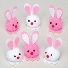 easter kids crafts cut pom pom bunnies good for preschool 20 Do-It-Yourself Easter Crafts for Kids Pom-Pom bunnies - would be cute to make baby chicks or lambs too :) ju Spring Crafts For Kids, Holiday Crafts For Kids, Crafts For Kids To Make, Kids Crafts, Preschool Crafts, Pom Pom Animals, Toy Story Crafts, Pom Pom Crafts, Boyfriend Crafts
