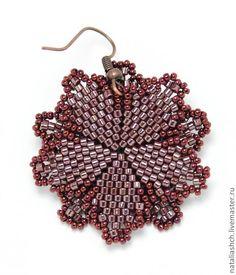 МК: Серьги - цветок с кристаллом - Ярмарка Мастеров - ручная работа, handmade