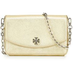 Tory Burch Mercer Metallic Crossbody Bag ($275) ❤ liked on Polyvore