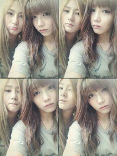 APink Eunji And Hayoung selca. jangan merenggut donk, keep smile :)