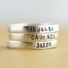 Personalized ring womens Jewelry Gift for her Mothers by luckyhorn, $30.00