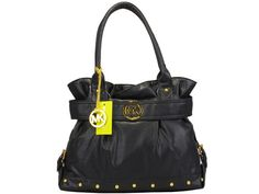 Michael Kors Black Leather with Studded Classic Tote