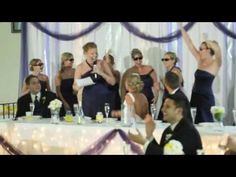 so many maids of honor are ridiculously creative - this one rapped her speech to the Fresh Prince of Bel-Air theme song