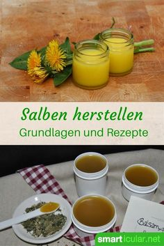 Salben einfach selbst herstellen – Grundlagen und Basisrezepte The preparation of ointments is easy and with the simplest ingredients you can use the healing powers of your favorite plants and prepare your own healing ointments! Natural Medicine, Herbal Medicine, Easy Homemade Desserts, Belleza Diy, Homemade Cosmetics, Homemade Beauty, Natural Health, Healthy Life, Natural Remedies