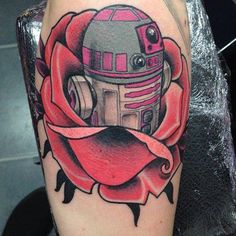 Done by Nick Baldwin and Gung Ho! Tattoo.  #StarWars #Tattoo #StarWarsTattoo