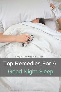 There are many essential oil remedies that can help you get a good night sleep. We'll highlight a few of them here. Sleep well, calm your mind, get a good night sleep.