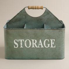 Zinc Donna Storage Caddy at Cost Plus World Market >> #WorldMarket Laundry Organization Ideas