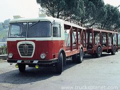 This car transporter was built on the chassis of Alfa Romeo Mille by well known Italian company Bartoletti. It had an original rectangular cab and the radiator grille was made in a style of Mille truck. Vintage Trucks, Old Trucks, Maserati, Ferrari, Garage Cafe, Course Automobile, Old Lorries, Alfa Romeo Cars, Commercial Vehicle
