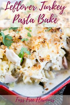 Your Leftovers for a Turkey Pasta Bake! This easy recipe for a family friendly ham, mushroom & turkey pasta bake is perfect for using up Christmas or Thanksgiving leftover turkey. Make it a few days after the holiday to keep your family full! Thanksgiving Leftover Recipes, Leftover Turkey Recipes, Thanksgiving Leftovers, Leftovers Recipes, Christmas Recipes, Leftover Ham, Christmas Ideas, Dinner Recipes, Best Pasta Recipes
