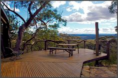 Generous Luxury Cabin with Jawdropping View of the Blue Mountains, Australia Waste Management System, Australia Holidays, Inside A House, Timber Deck, Luxury Cabin, Getaway Cabins, One Day Trip, Art Of Living, Living Spaces