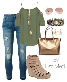 """""""Casual"""" by lizz-med ❤ liked on Polyvore featuring MICHAEL Michael Kors, WearAll, Madden Girl, Ray-Ban and Oscar de la Renta"""