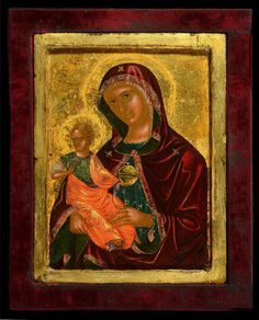 Madre della Consolazione - Morsink Icon Gallery Virgin Mary, Greek Icons, Russian Icons, Silk Road, Colours, Note, Gallery, Frame, Painting