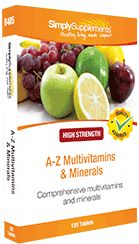 GENERAL HEALTH - Our comprehensive A to Z Multivitamin & Minerals supplement helps to maintain good general health, including brain function and energy levels.