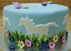This horse themed cake was for a young ladies sweet 16 party!