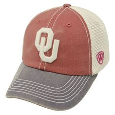 huge selection of 23147 f40b6 Top of the World Men s Oklahoma Sooners Crimson Cream Grey Off Road  Adjustable Hat
