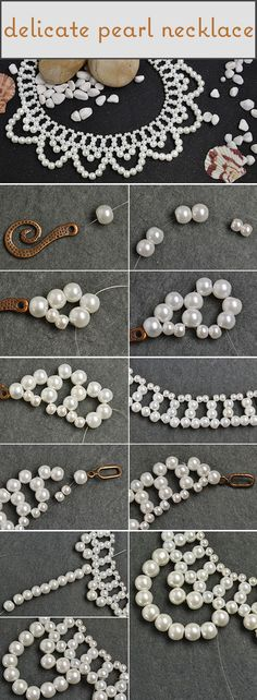 How to Make a Delicate Pearl Bead Flower Choker Necklace