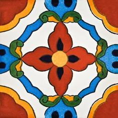 NEW DESIGN! Talavera Tile #Talavera #Tile #Mexico #Home #Decor
