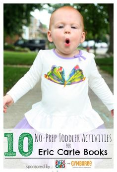 10 Simple (NO-PREP) Eric Carle Toddler Activities plus tons of resources! Love this! #sp