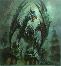 war dragon | fantasy art | drawing painting | creatures dragons fighting battle dragon