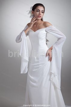 White A-Line Spaghetti Straps Summer Court Train Wedding Dresses with Jacket