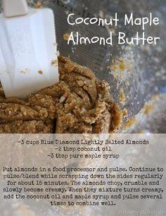 coconut maple almond butter recipe