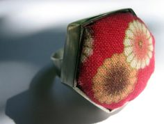 The Japan Collection, Hexagon Ring Japanese Fabric, Jewelry Collection, Color Pop, Cuff Bracelets, Jewlery, Coin Purse, Rings, Handmade, Inspiration