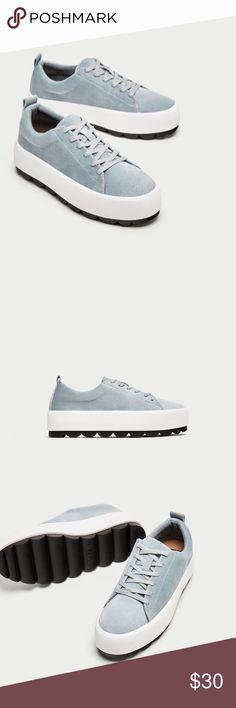 Zara velvet platform sneakers New with tags ! Zara Shoes Sneakers
