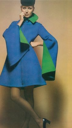 Pierre Cardin, 1967.  Those sleeves!  It's a houpelande!  Everything old is new again.