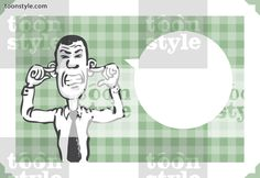 Greeting card with businessman closing his ears – personalize your card with a custom text