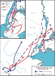 Map of Battle of Long Island 27th Aug 1776 by John Fawkes ...