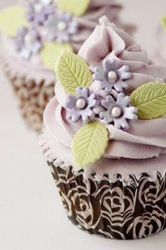 Cupcakes de violetas