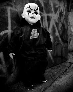 Reyes Art Lil G Dolls Muñecos Payasos Cholos Gangster Oakland Raiders Shoes, Gangster Clown, Joker Brand, Estilo Cholo, Cholo Style, Ghost Faces, Aztec Art, Guys And Dolls, Chicano Art