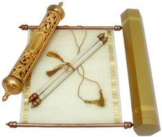 S301, Gold Color, Scroll Invitations, Jewish Invitations, Anniversary Invitations