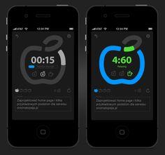 Pomodoro Timer - iPhone App by Sławomir Barcz, via Behance