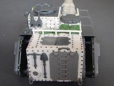 Heavily converted tank using plasticard