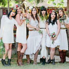 A bohemian bridal shower with flower crowns + a mimosa bar. Diy Workshop, Plait, Bridesmaid Dresses, Wedding Dresses, Floral Crown, Wearable Art, Fascinator, Making Ideas, Bridal Shower