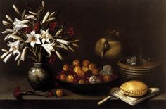 Francisco Barrera (c.1595-1658)  —  Still-Life with Flowers and Fruit, 1643    (1166×770)