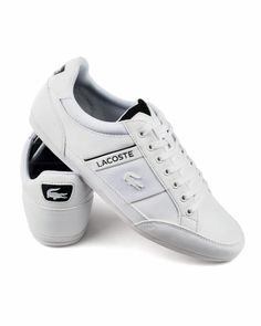 a92aad62bf1e White Lacoste Chaymon Trainers