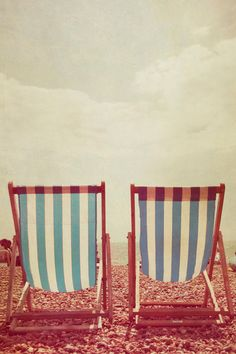 I actuallyhave these beach chairs! Poster Prints, Art Prints, Posters, Deck Chairs, Paintings I Love, Deck The Halls, Summer Fun, Summer Vibes, Vintage Photos