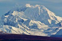 """Mount Hayes (4,216m - 13,832ft), Alaska Range Fall Tundra Vista, Matanuska-Susitna Borough, Alaska"""