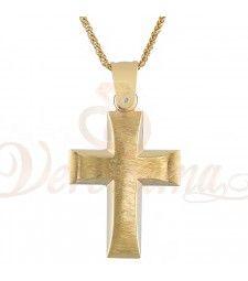 Σταυρός ανδρικός χρυσός Κ14 ST_110 Symbols, Letters, Letter, Lettering, Glyphs, Calligraphy, Icons