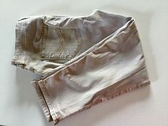 SALE CHICOS SZ 3  So Slimming  BEIGE JEANS  ANKLE PANTS #Chicos #SoSlimming