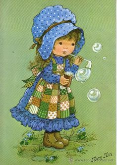 all pictures of gnome paintings Holly Hobbie, Cute Clipart, Cute Images, Cute Illustration, Vintage Cards, Vintage Children, Cute Art, Art For Kids, Mini