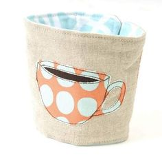 Veronica Made cup cozy, $18, Ephemera. Gift Guide 2011. Juice Gift Guide 2011