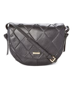 This Black Quilted In Knots Leather Crossbody Bag is perfect! #zulilyfinds